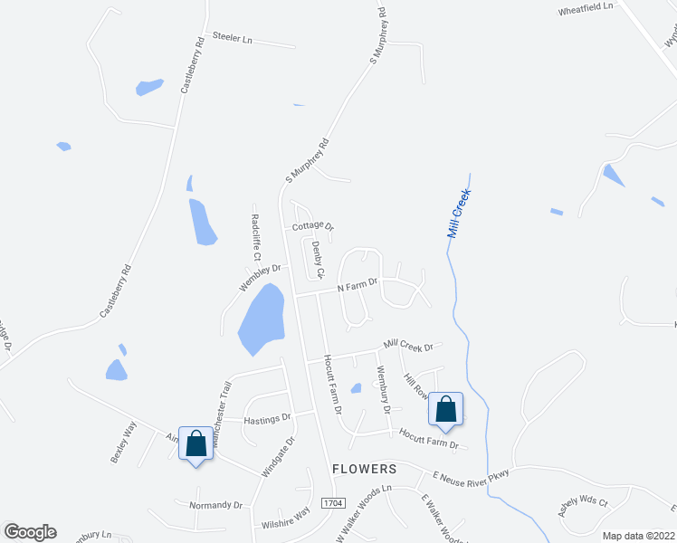 map of restaurants, bars, coffee shops, grocery stores, and more near 78 Millwood Drive in Clayton
