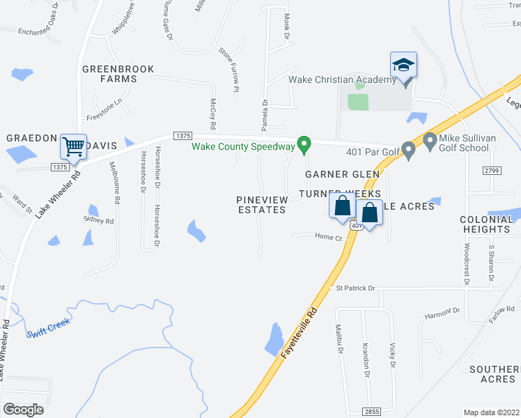 map of restaurants, bars, coffee shops, grocery stores, and more near 6016 Briarwood Drive in Raleigh