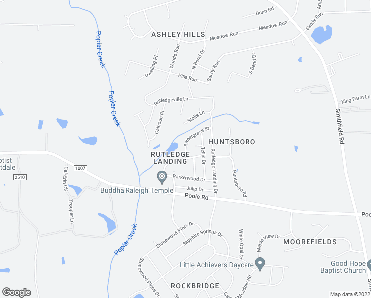map of restaurants, bars, coffee shops, grocery stores, and more near 5165 Limewood Street in Knightdale