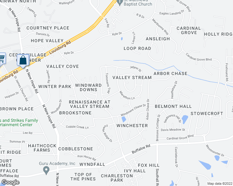 map of restaurants, bars, coffee shops, grocery stores, and more near 4716 Triple Creek Drive in Raleigh