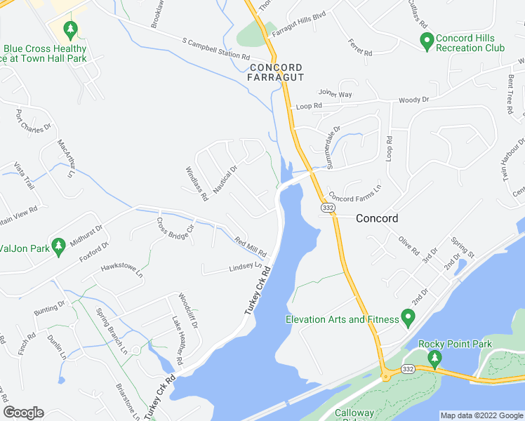 map of restaurants, bars, coffee shops, grocery stores, and more near 754 Harbor Way in Knoxville