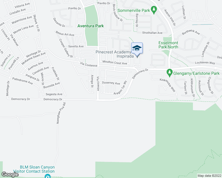 map of restaurants, bars, coffee shops, grocery stores, and more near 2870 Cabrillo Terrace Street in Henderson