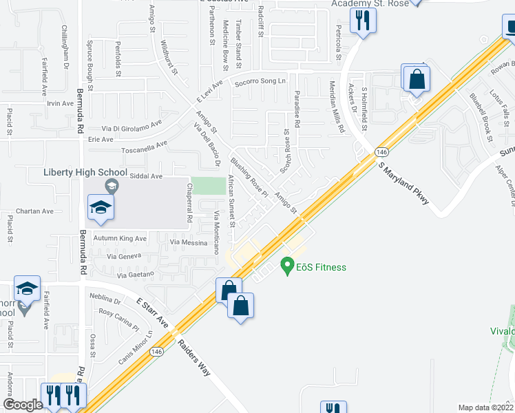 map of restaurants, bars, coffee shops, grocery stores, and more near 11066 Arcadia Sunrise Drive in Henderson
