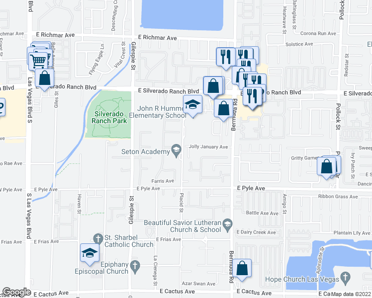 map of restaurants, bars, coffee shops, grocery stores, and more near 9933 March Mist Court in Las Vegas