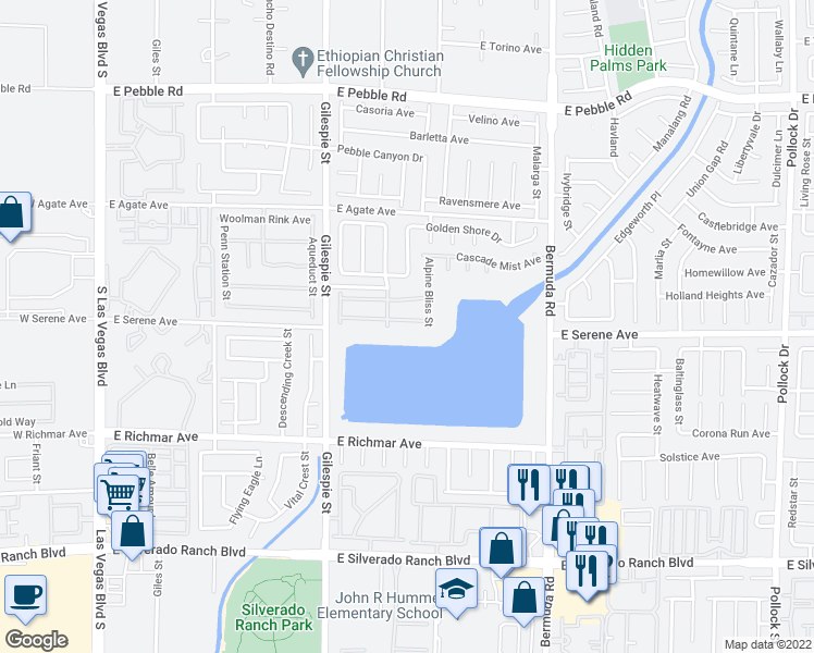 map of restaurants, bars, coffee shops, grocery stores, and more near 273 Kyland Cove Avenue in Las Vegas
