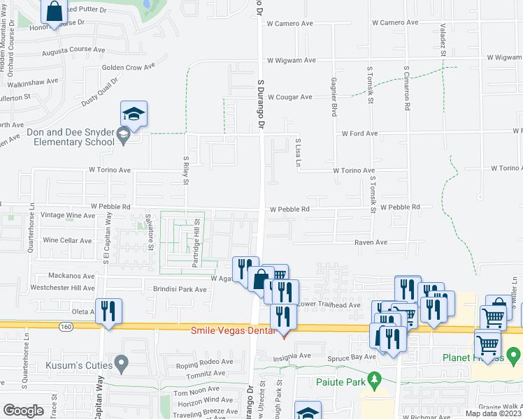 S Durango Dr W Pebble Rd Las Vegas NV Walk Score - Las vegas walking map