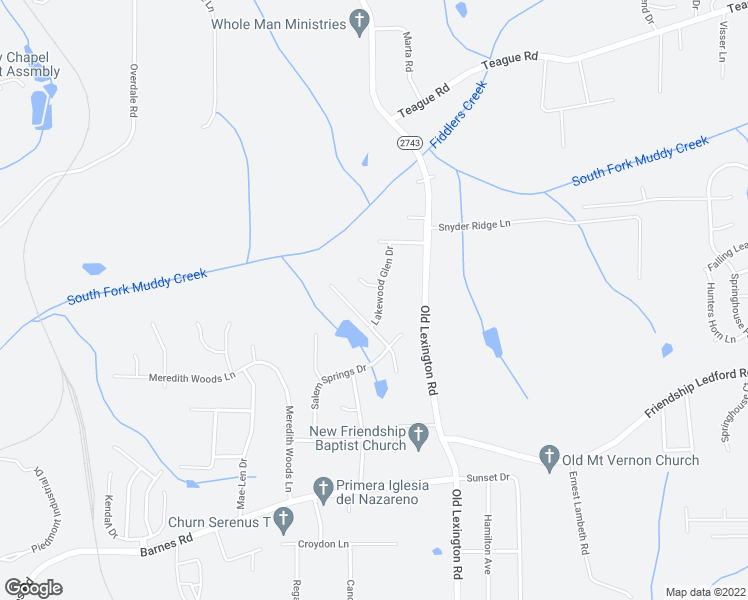 map of restaurants, bars, coffee shops, grocery stores, and more near 4154 Lakewood Glen Drive in Winston-Salem