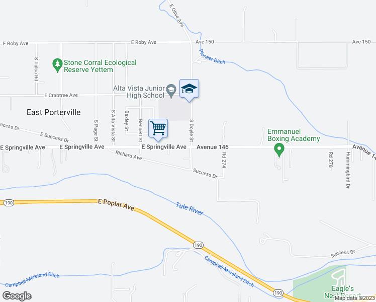 2389 East Springville Avenue, Porterville CA - Walk Score