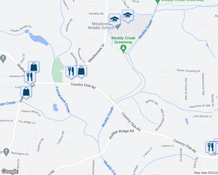 map of restaurants, bars, coffee shops, grocery stores, and more near 100 Brookberry Drive in Winston-Salem