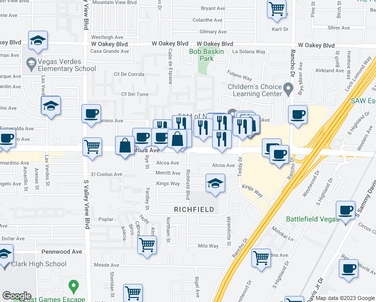 W Sahara Ave Richfield Blvd Las Vegas NV Walk Score - Las vegas walking map
