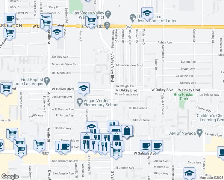S Valley View Blvd W Oakey Blvd Las Vegas NV Walk Score - Las vegas walking map