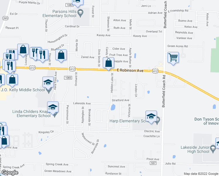 2246 Hidden Lake Street, Springdale AR - Walk Score