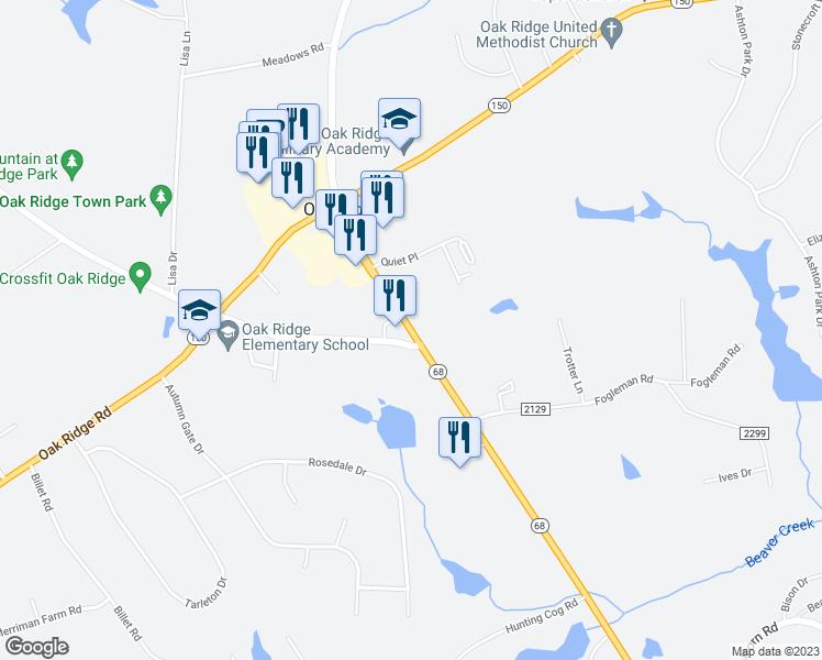 Oak Ridge Nc Map.North Carolina 68 Oak Ridge Nc Walk Score