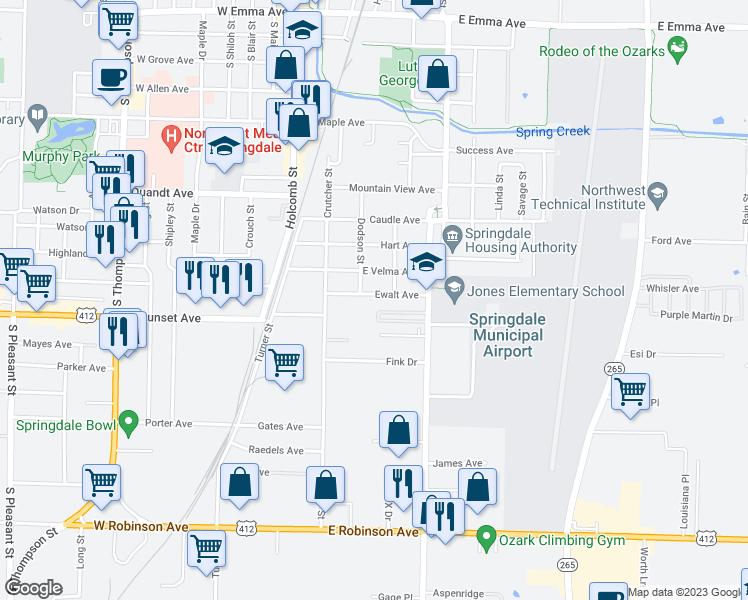 413 Ewalt Avenue, Springdale AR - Walk Score