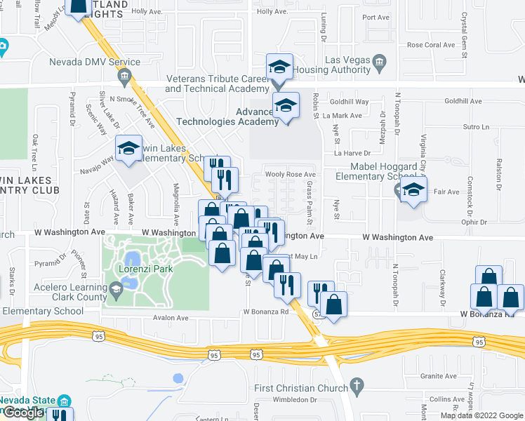 map of restaurants, bars, coffee shops, grocery stores, and more near 2701 Tortoise Cactus Court in Las Vegas