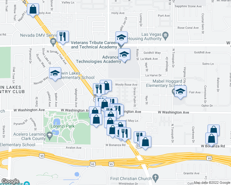 map of restaurants, bars, coffee shops, grocery stores, and more near 2637 Cinnamon Cactus Court in Las Vegas