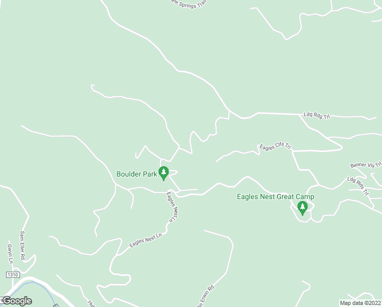 map of restaurants, bars, coffee shops, grocery stores, and more near Eagles Nest Trail in Avery County