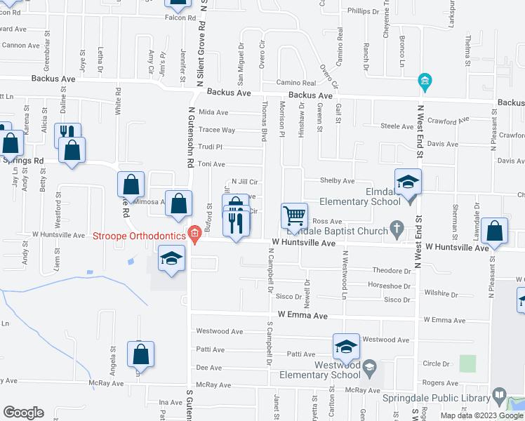 2404 South Jill Circle, Springdale AR - Walk Score