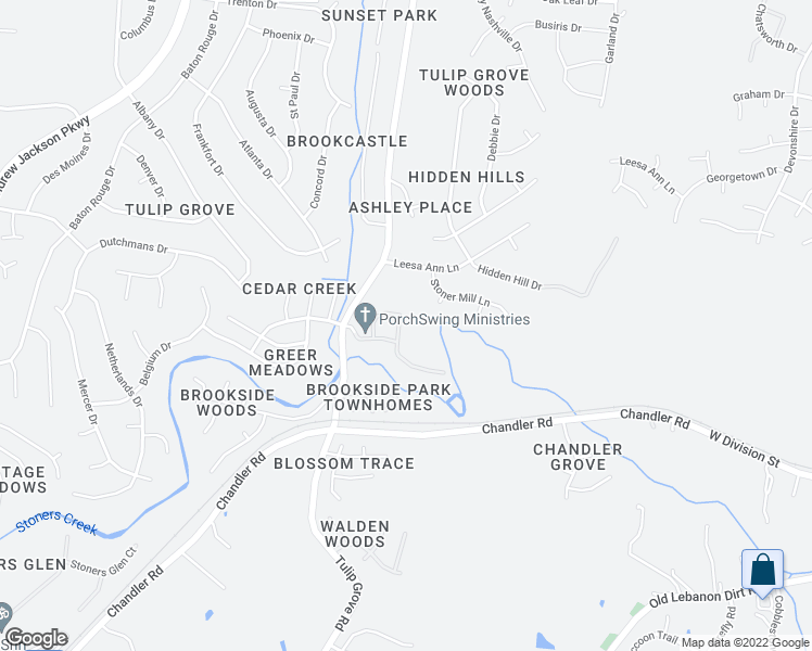 map of restaurants, bars, coffee shops, grocery stores, and more near 735 Tulip Grove Road in Nashville