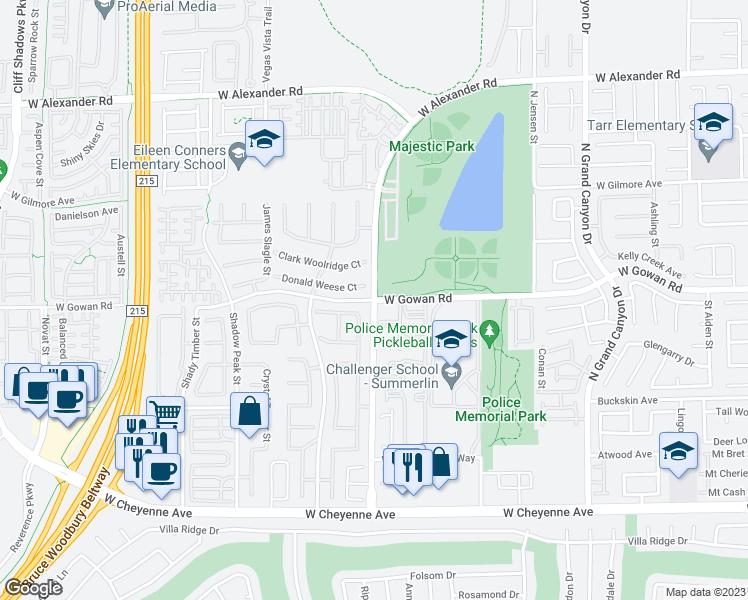 W Gowan Rd N Hualapai Way Las Vegas NV Walk Score - Grandview las vegas map