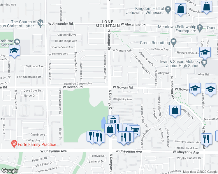 N Durango Dr W Gowan Rd Las Vegas NV Walk Score - Las vegas walking map