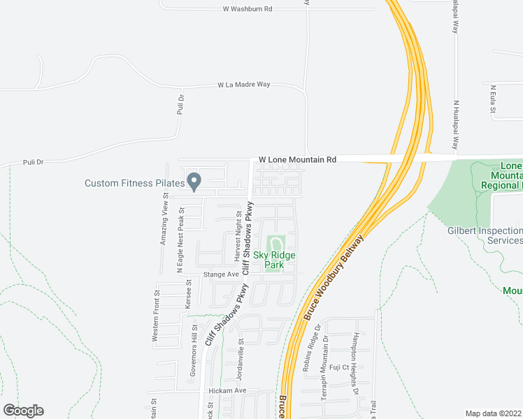 map of restaurants, bars, coffee shops, grocery stores, and more near 10525 Morning Drop Ave in Las Vegas