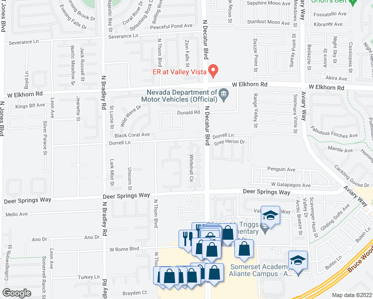 map of restaurants, bars, coffee shops, grocery stores, and more near 4845 Raw Umber Court in Las Vegas