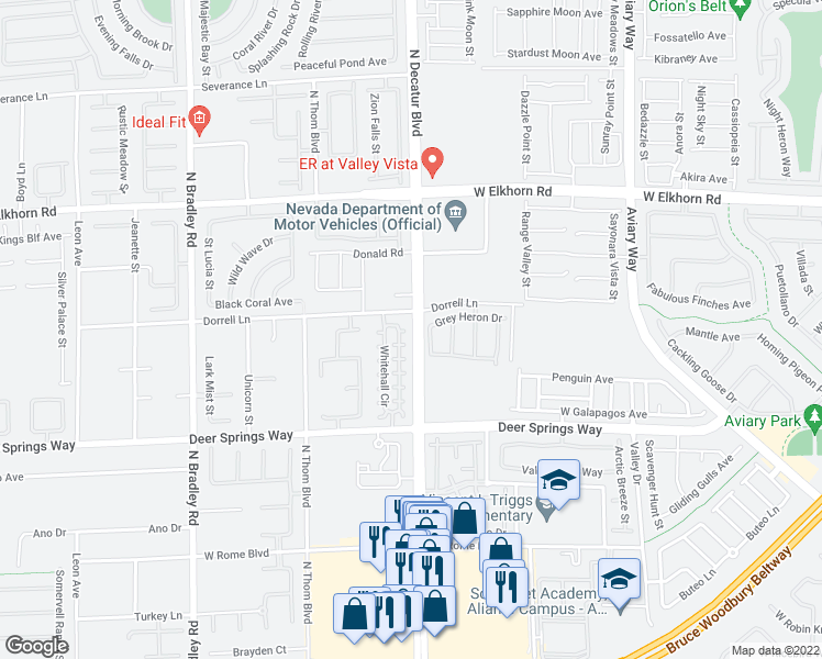 map of restaurants, bars, coffee shops, grocery stores, and more near 4804 Fuchsia Vine Ct in Las Vegas