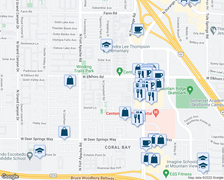 map of restaurants, bars, coffee shops, grocery stores, and more near 9012 W Spotted Trail Ave in Las Vegas