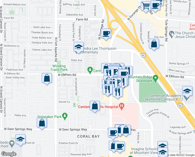 map of restaurants, bars, coffee shops, grocery stores, and more near 8940 Paula Jean Avenue in Las Vegas