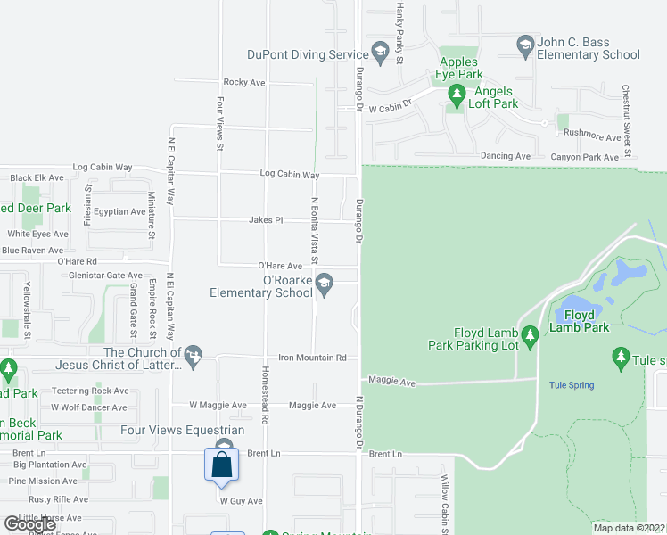 map of restaurants, bars, coffee shops, grocery stores, and more near 8420 O Hare Road in Las Vegas
