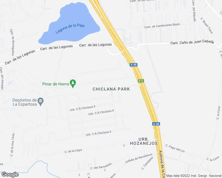 map of restaurants, bars, coffee shops, grocery stores, and more near Urbanización C.R.Chiclana II in Chiclana de la Frontera