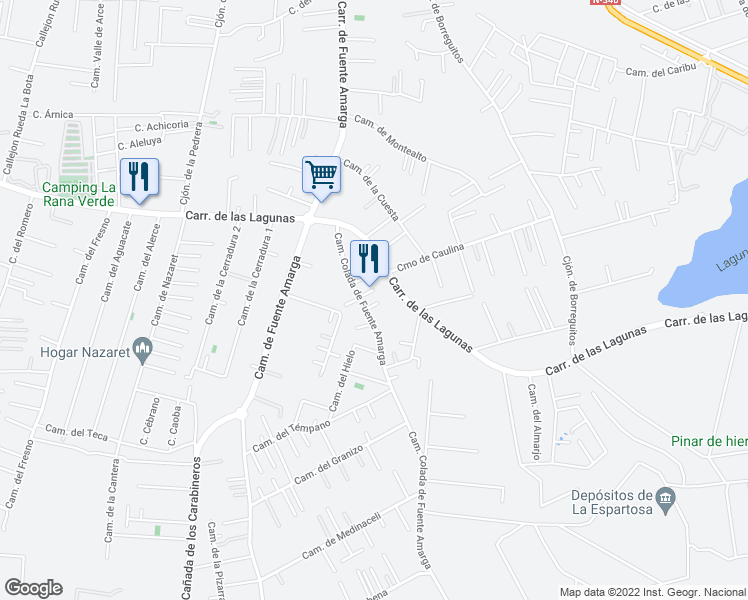 map of restaurants, bars, coffee shops, grocery stores, and more near 4D Carretera Laguna in Chiclana de la Frontera