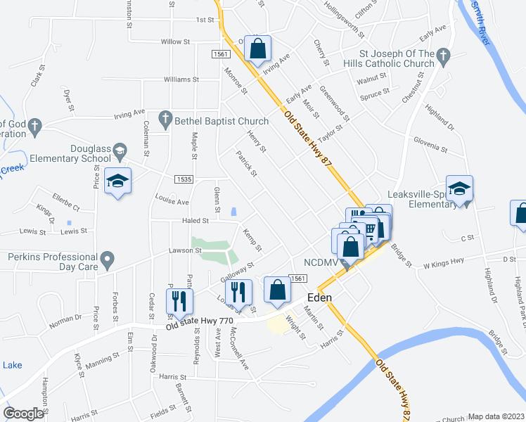 Hamilton Nc Map.500 South Hamilton Street Eden Nc Walk Score