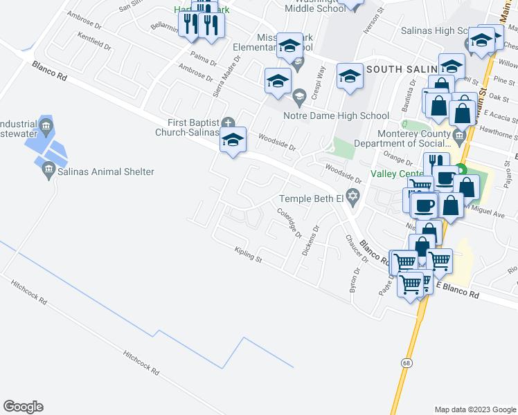 1253 Los Olivos Drive, Salinas CA - Walk Score Los Olivos Ca Map on