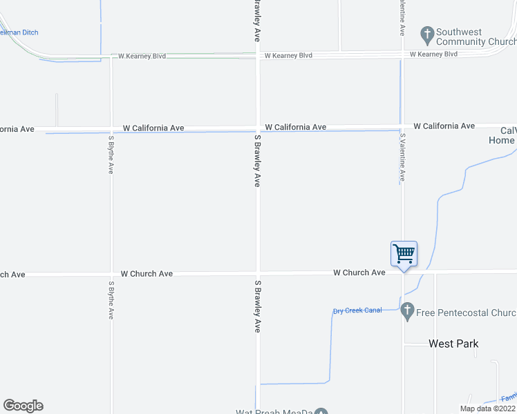 map of restaurants, bars, coffee shops, grocery stores, and more near 1244 S Brawley Ave in Fresno