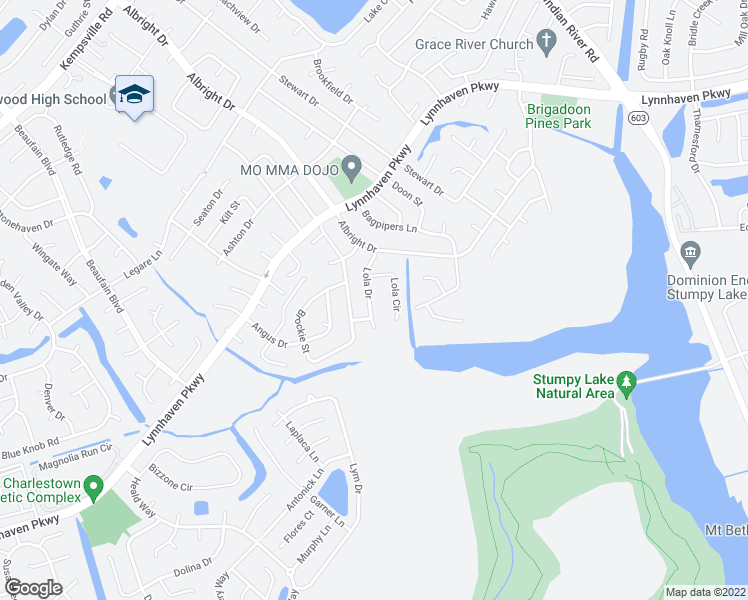 map of restaurants, bars, coffee shops, grocery stores, and more near 1644 Lola Drive in Virginia Beach