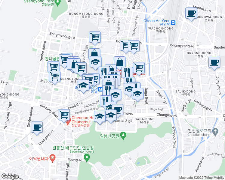 Cheonan Chungcheongnam-do - Walk Score