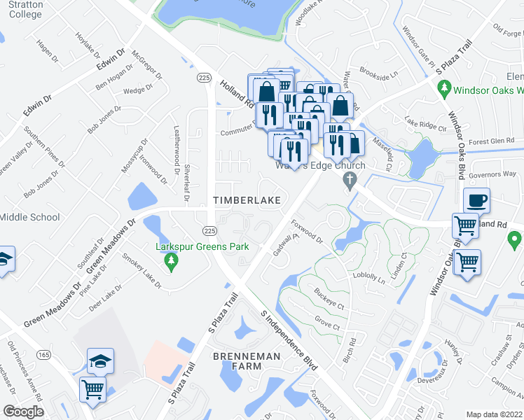 map of restaurants, bars, coffee shops, grocery stores, and more near 703 Jared Court in Virginia Beach