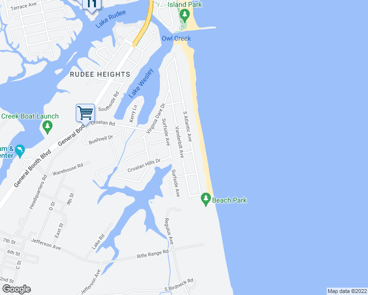 map of restaurants, bars, coffee shops, grocery stores, and more near 618 Vanderbilt Avenue in Virginia Beach