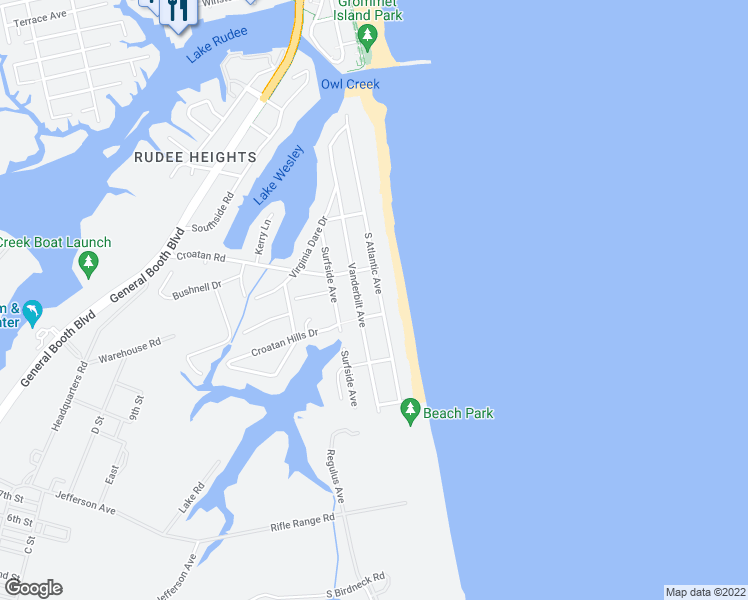 map of restaurants, bars, coffee shops, grocery stores, and more near 661 South Atlantic Avenue in Virginia Beach