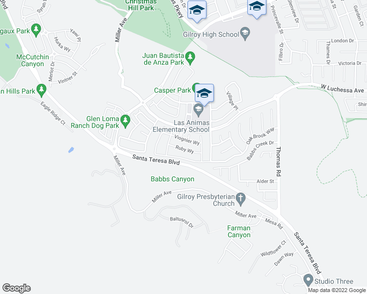 Christmas Hill Park Map.1097 Ruby Way Gilroy Ca Walk Score