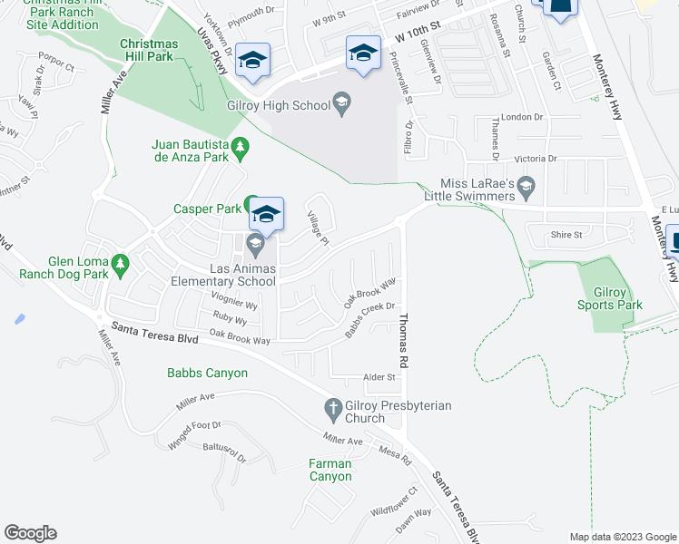 Christmas Hill Park Map.6360 Raspberry Court Gilroy Ca Walk Score