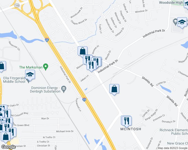 Industrial Park Drive, Newport News VA - Walk Score on recreational map of va, political map of va, geological map of va, railroad map of va, driving map of va, county map of va, physical map of va, municipal map of va, topographical map of va,