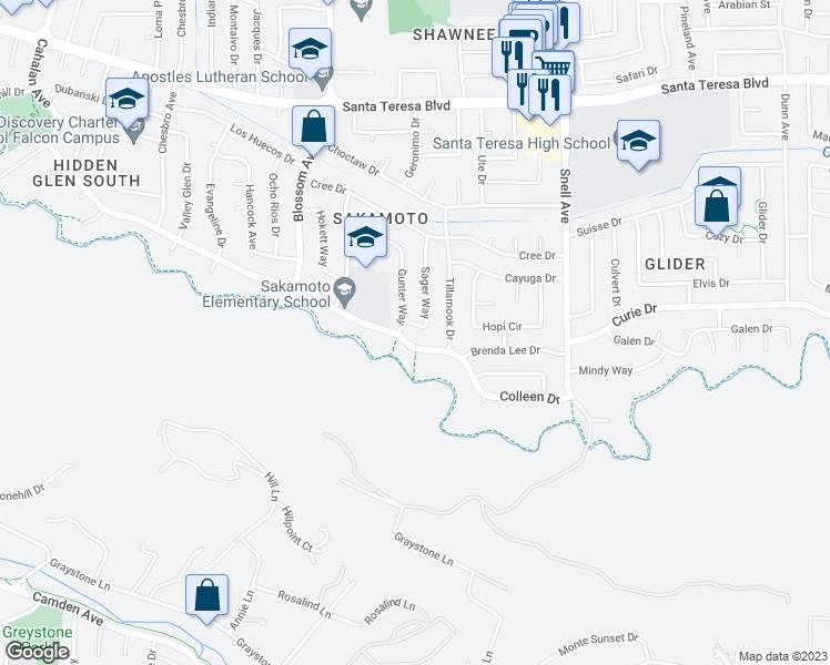 6288 Sager Way, San Jose CA - Walk Score