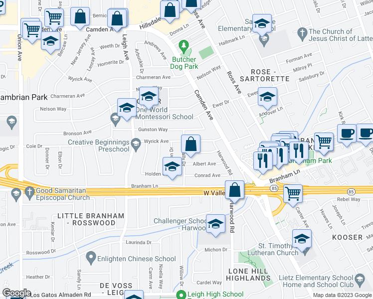 1799 barcelona avenue san jose ca walk score - Barcelona san jose ...