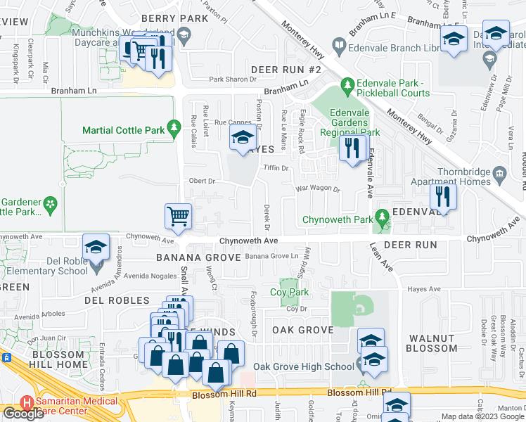 5141 Derek Drive, San Jose CA - Walk Score
