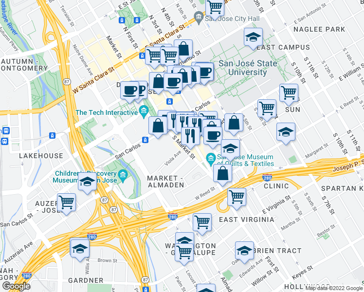 South Market Street & West San Salvador Street, San Jose CA - Walk Score