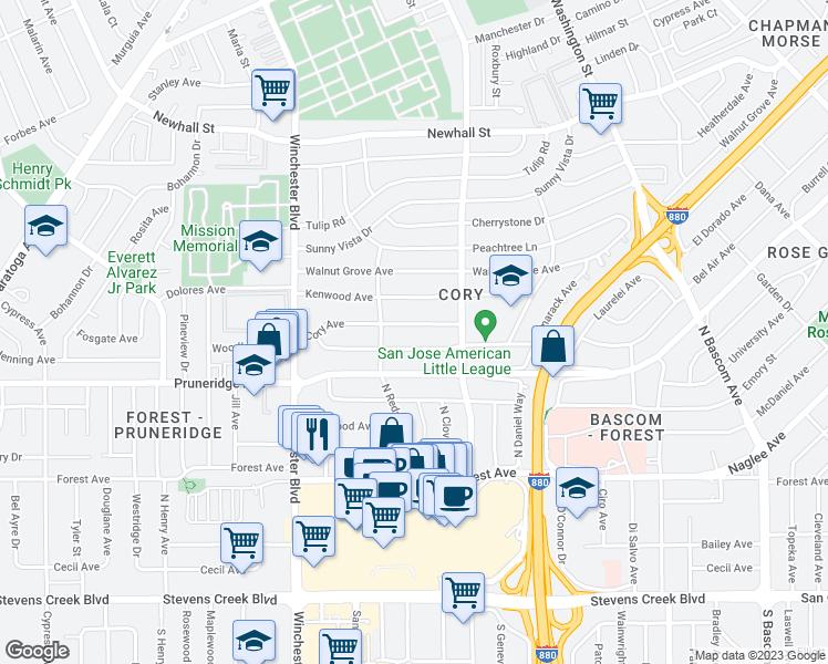 Tile Stores San Jose >> 2358 Cory Avenue, San Jose CA - Walk Score