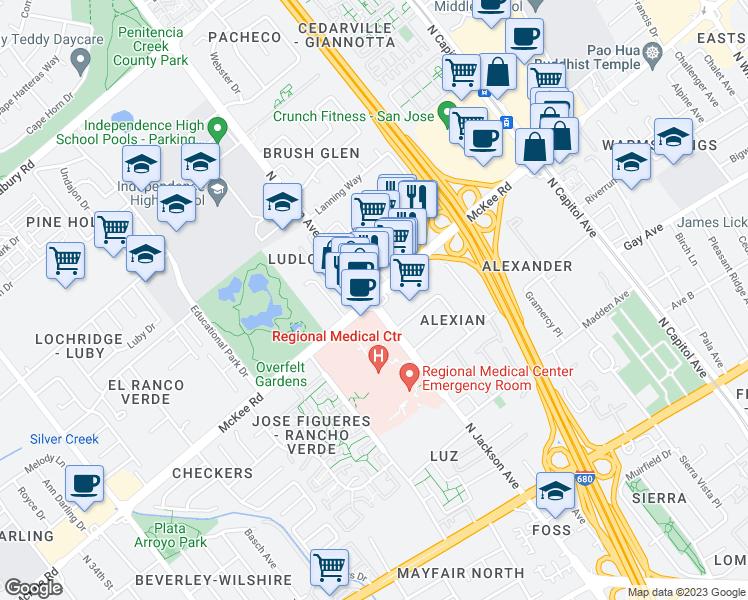 Tile Stores San Jose >> McKee Rd & N Jackson Ave, San Jose CA - Walk Score